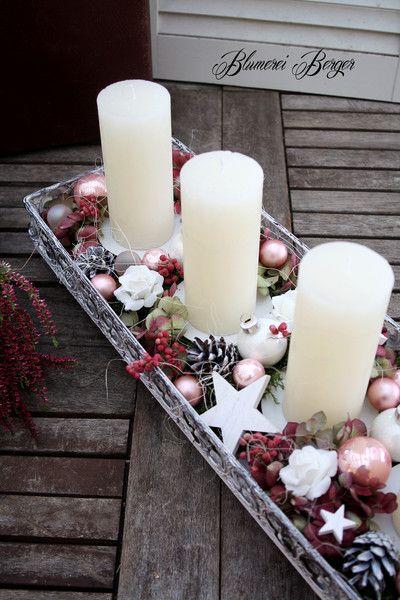 Weihnachtsdeko - :::: Weihnachtsgesteck :::: - ein Designerstück von BlumereiBerger bei DaWanda