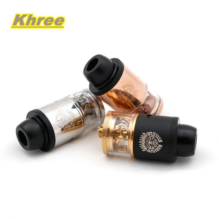 Khree E cigarette Merlin RDTA Tank 24mm atomizer 3.5ml vaporizer Derlin Top Cap and Drip tips suit for 510 box mod