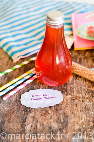 Le #Sirop #Tagada   La Recette ici : http://www.marciatack.fr/recette-sirop-de-fraises-tagada-fait-maison/