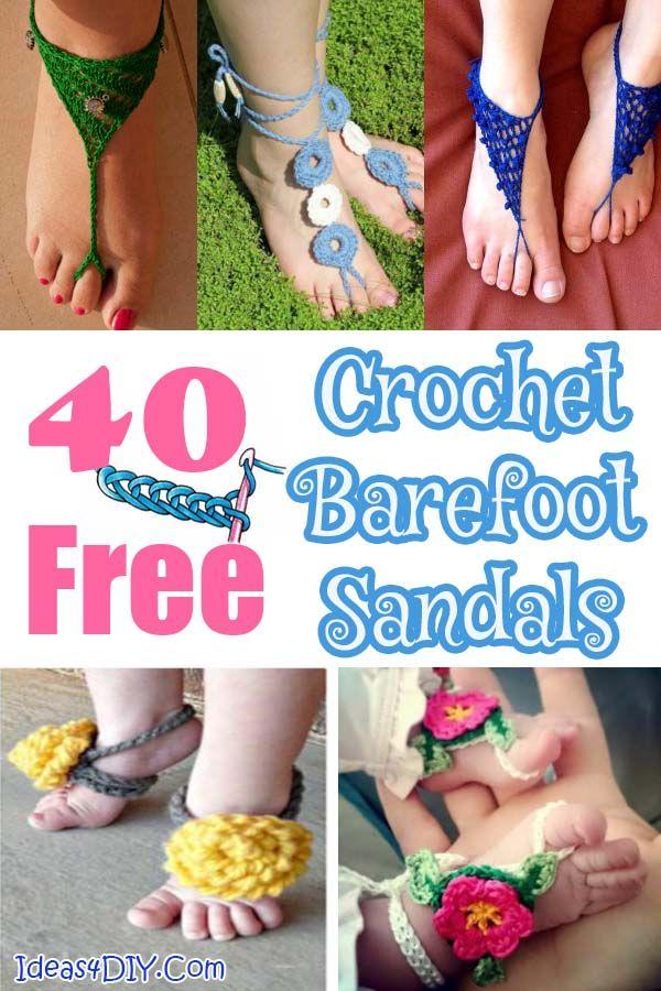 Top 40 Free Crochet Barefoot Sandal Patterns Barefoot Sandals Crochet Pattern Crochet Barefoot Sandals Barefoot Sandals Pattern