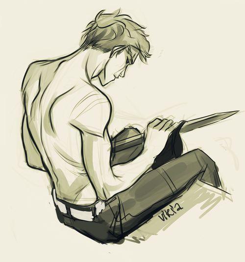 Luke Castellan Shirtless Challenge on Tumblr!