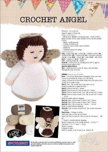 Adornos de Navidad: Ángeles de ganchillo - Patrón, gratuito, para crear ángeles de ganchillo