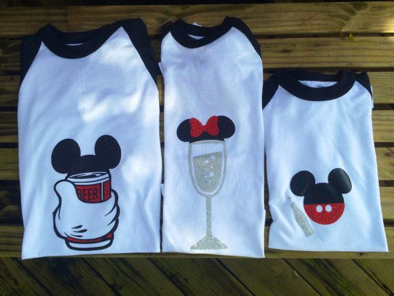 Food and wine Family Disney shirts/ beer by ProjectBoothDesigns