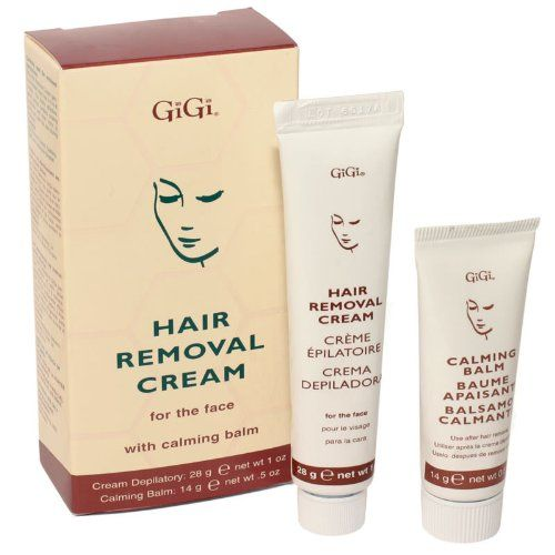 GIGI Hair Removal Cream - For the Face - Hair Removal Cream-For the Face is specifically designed to remove unsightly facial hair. This gentle formula contains cooling Cucumber and Aloe Vera to soothe and calm the skin. . Product Features  Specifical
