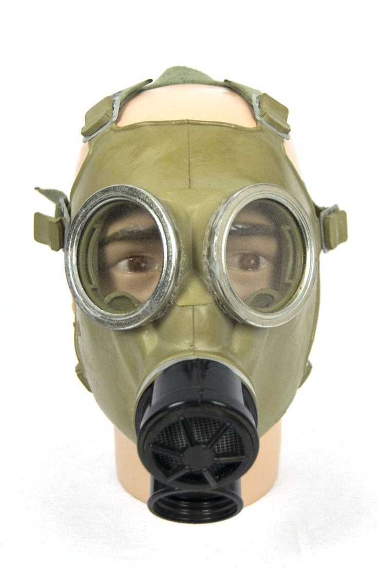 Polish green gasmask cold war