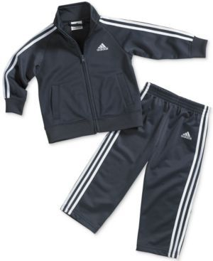 adidas Toddler Boys' 2-Piece Icon Jacket & Pants - Gray 3T
