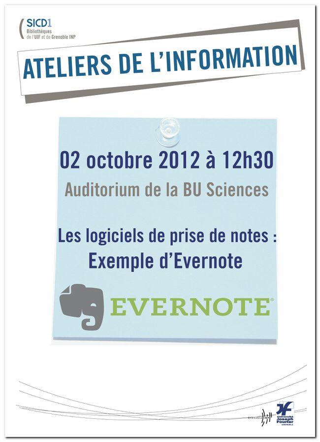 AT06 - Les logiciels de prise de notes - Exemple d'Evernote - Bibliothèques de l'UJF et Grenoble INP