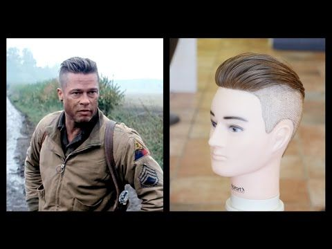 Brad Pitt Fury - Men's Haircut Tutorial - TheSalonGuy - YouTube