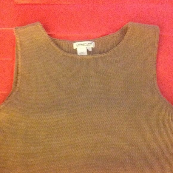 Coldwater Creek Natural Sleeveless Sweater Coldwater Creek Natural Sleeveless Sweater XL  Coldwater Creek Tops
