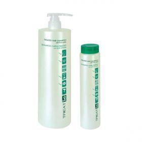 ING Treated Hair Shampoo (Ταλαιπωρημένα) 1000ml Σαμπουάν για μαλλιά ταλαιπωρημένα από τεχνικές εργασίες, αναζωογονεί και ενυδατώνει την τρίχα χάρη στο όξινο PH (4.5) που περιέχει και μπορεί να χρησιμοποιηθεί μετά από τεχνικές εργασίες ως εξουδετερωτικό σαμπουάν. Χαρίζει στα μαλλιά απαλότητα, λάμψη και υγιή εμφάνιση.ΑΝΑΛΥΤΙΚΑ στο www.femme-fatale.gr.Τιμή €12.00