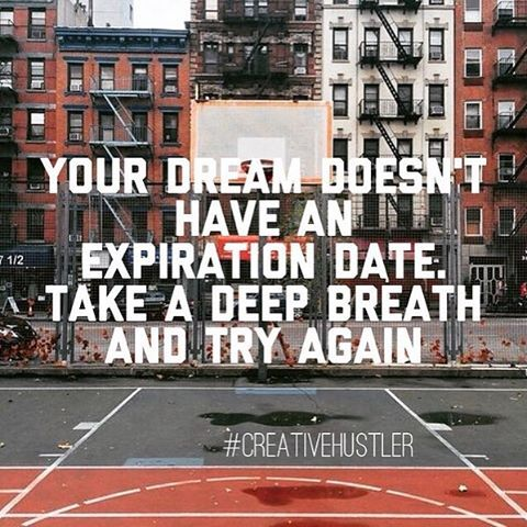Never give up on your dreams! You're worth chasing them.