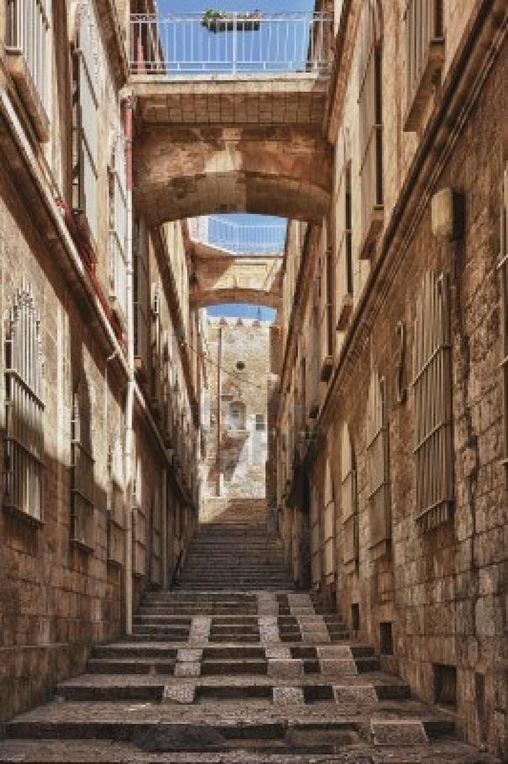 Via nella parte vecchia di Gerusalemme, Israele