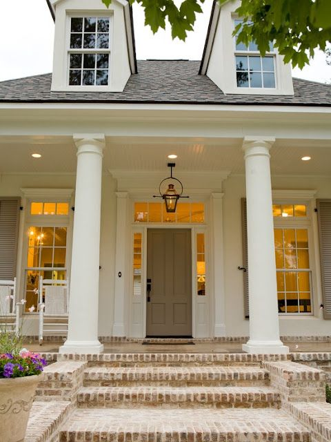 """Southern style...I love this entrance!. I do realize my home is going to need about 3 """"front doors """""""