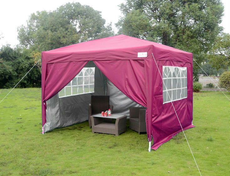 Quictent Silvox® 8'x8'EZ Pop Up Canopy Gazebo Party Tent Pink 100% Waterproof #Quictent