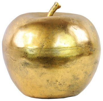 Fiberstone Apple Decor - Champagne - Traditional - Decorative Objects And Figurines - by Pizzazz! Home Decor, LLC