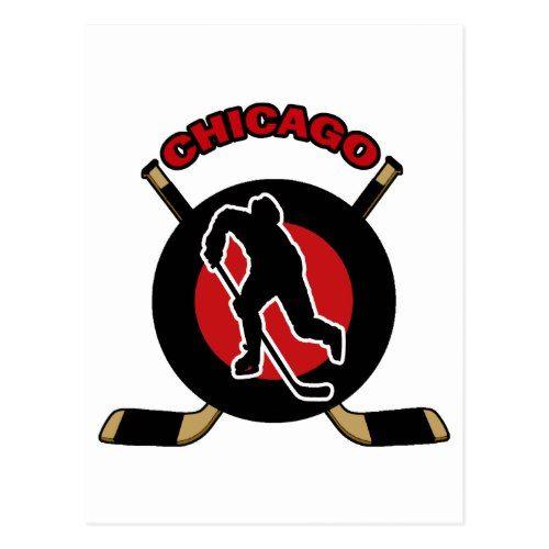 CHICAGO HOCKEY POSTCARD