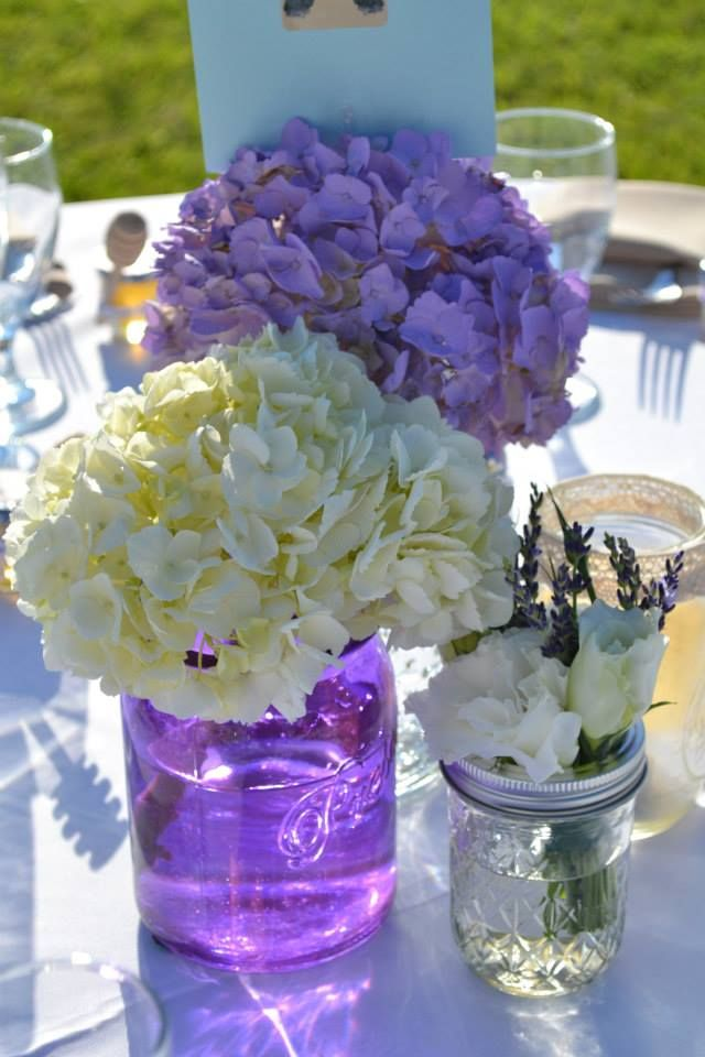 Mason jar centerpieces purple pixshark images