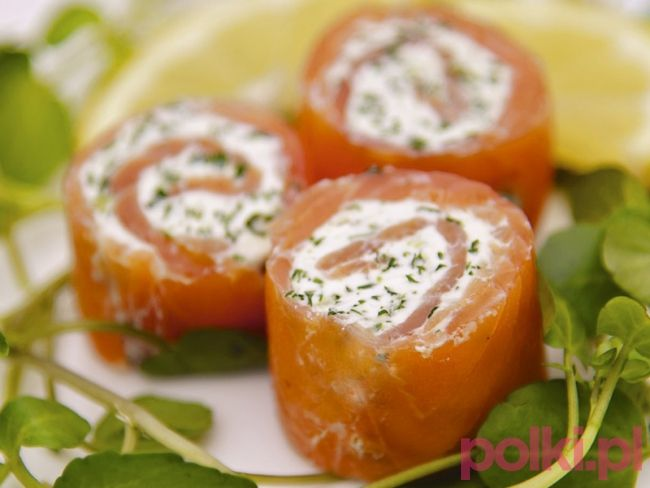 Roladki z łososia - przepis -Przepisy kulinarne - przepis