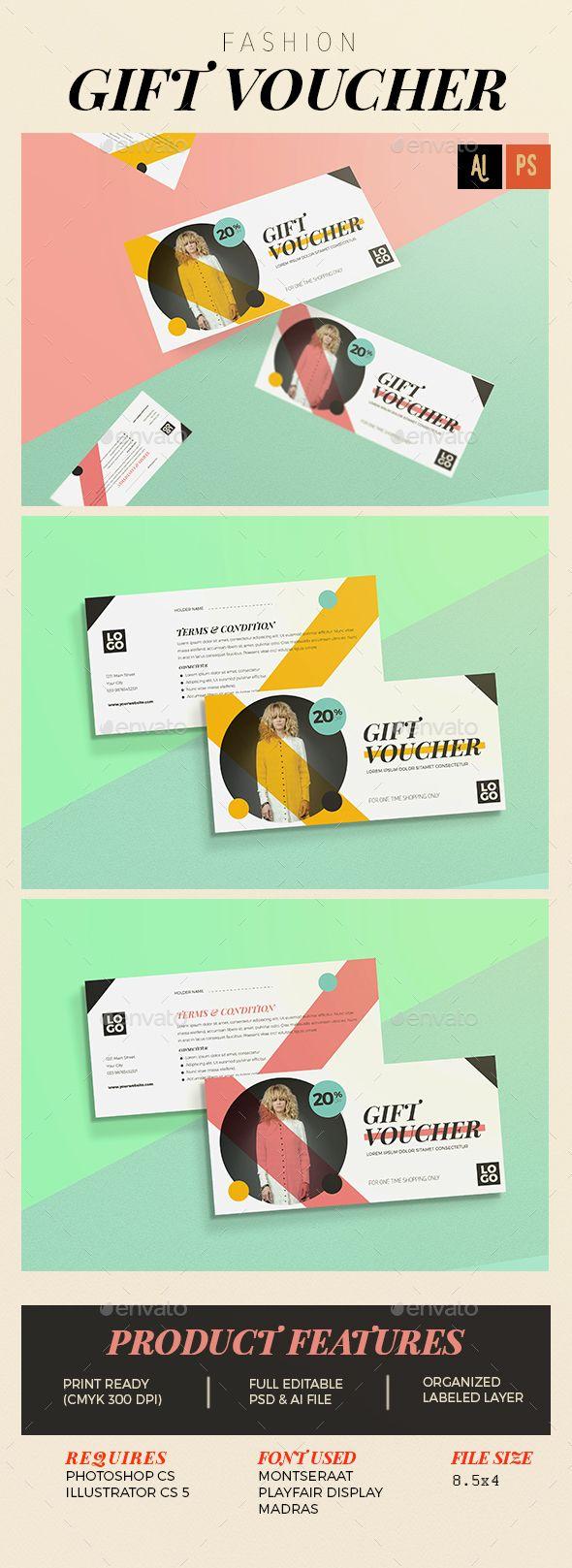 17 best ideas about gift vouchers gift voucher fashion gift voucher template psd vector ai design