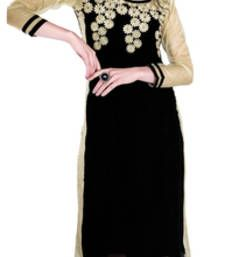 Georgette Embroidered Black,Chikoo Color Stylish Kurti With Santoon Inner.Our Kurtis are ready to flaunt your style quotient And It is designed and stitched using high grade fabrics and yarns under the strict surveillance of our well-versed Professional Employee.Colors may be minor vary from what was mentioned because of different screen resolution.