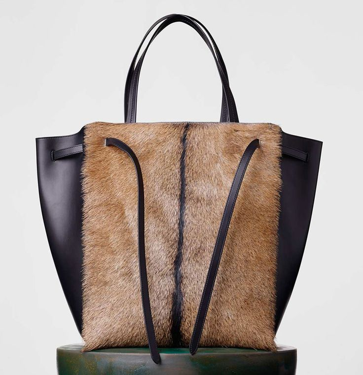 Celine-Cabas-Phantom-Goat-Fur-Tote-3100 | Handbags, Purses ...