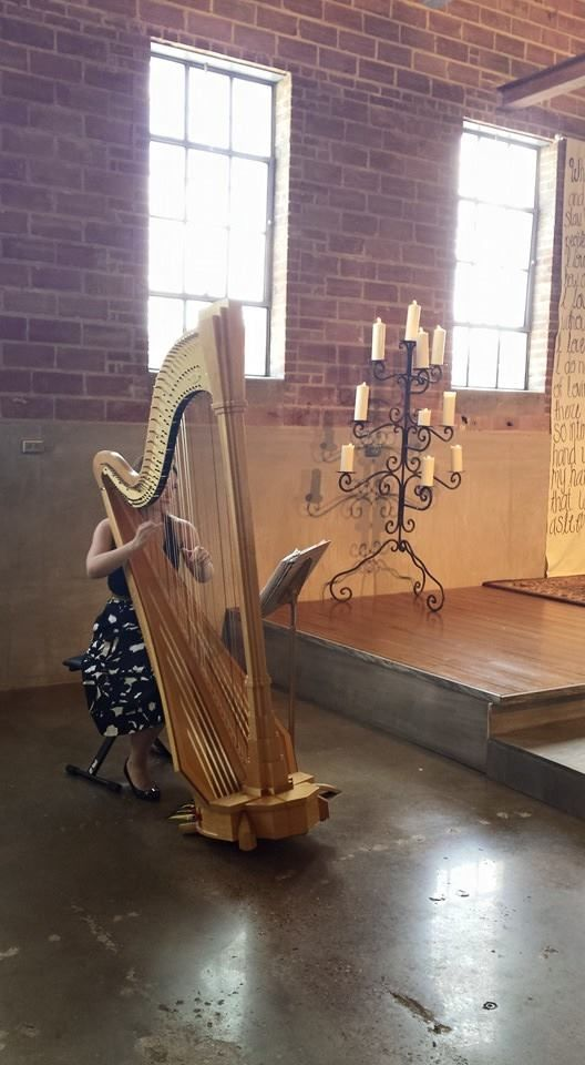 At Ecclesia Houston yesterday ~ a beautiful place for a wedding! Please contact me if you are looking for harp music for your wedding ceremony! Now booking events in Houston through 2016!