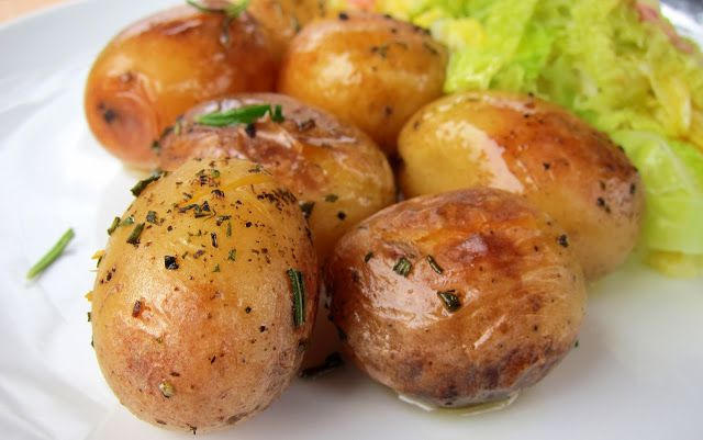 pressure cooker potatoes roasted and easy - use butter!