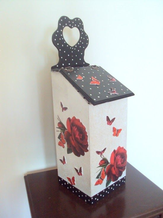 ♥♥ Hobi Vakti ♥♥: Siyah Beyaz Kırmızı Poşet Kutusu