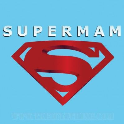 Supermam - Womens T-shirt or Hoodie in a variety of colours size XS to XL
