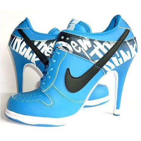 Nike Dunk SB High Heels Blue/White Women's Shoes