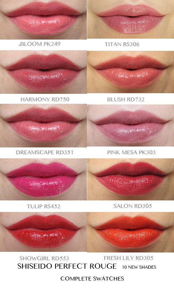 Ten shades of perfect rouge