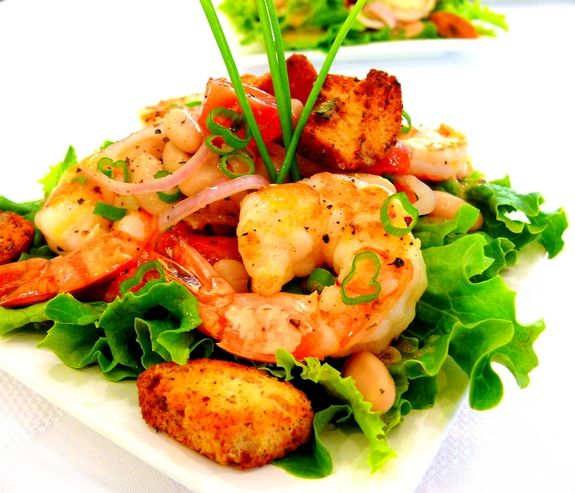 Shrimp & Cannellini Salad With Tarragon Vinaigrette Recipe ...