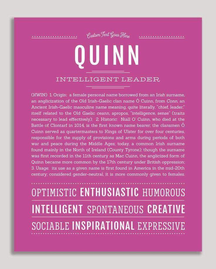 Quinn (female) | Classic Name Print in 2020 | Classic ...