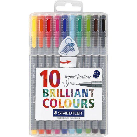 Staedtler Pigment Fineliner Kleur  - 10 stuks