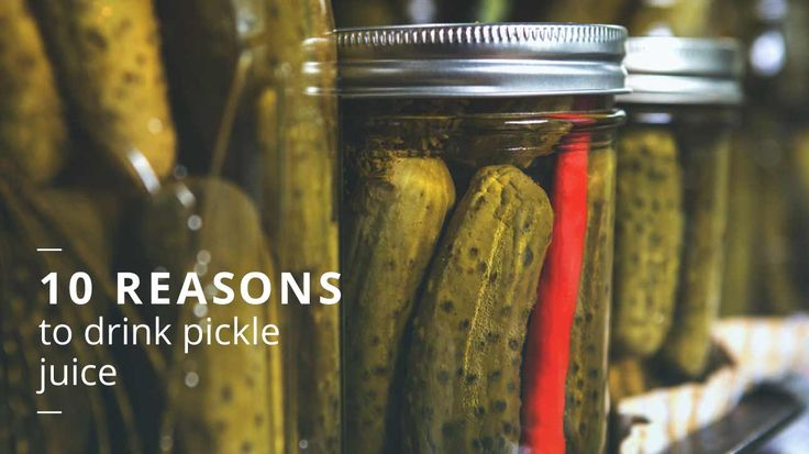 Pickle juice contains a lot of sodium. It also has some potassium. After a sweaty or lengthy exercise session, sipping some pickle juice can help your body recover to its normal electrolyte levels more quickly.