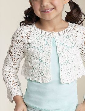 Cute crochet.  I solemnly swear my granddaughters will always have a cute white cardi for Easter.