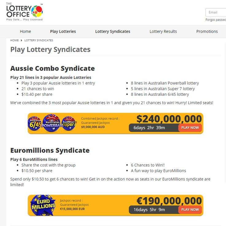 Check out our Aussie Combo syndicate! $10.40/share & 21 chances to WIN! Check it out! https://lotteryoffice.com/adclick?campaignId=26&utm_content=buffer61045&utm_medium=social&utm_source=pinterest.com&utm_campaign=buffer