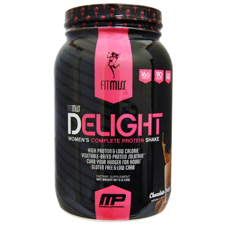 FitMiss, Delight, Women's Complete Protein Shake, Chocolate Delight, 2 lbs (907 …