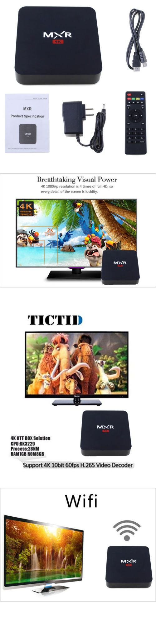 Cable TV Boxes: Vander Quad Core Android 5.1 Mxr Smart Tv Box 4K Wifi Hdmi Ram Hd 1080P -> BUY IT NOW ONLY: $31.99 on eBay!