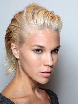slicked back summer hairstyle