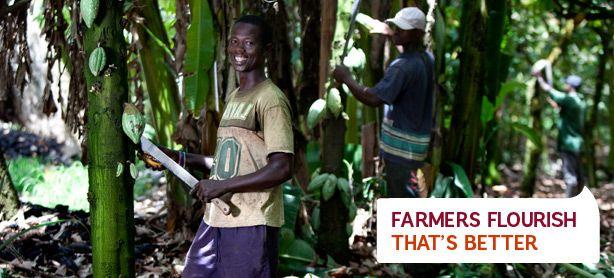 Alle Elvee chocolade is UTZ gecertificeerd: UTZ Certified. Better farming. Better future