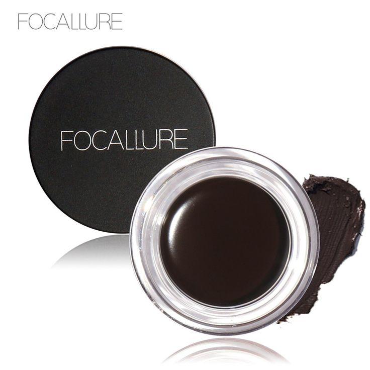 FOCALLURE Eye Gel Waterproof Gel Eyeliner New Makeup Black Long Lasting Liquid Gel Eyeliner Nice Delineador Em Gel To Women