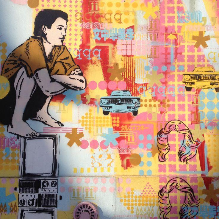 Graffiti tour in Buenos Aires, Argentina.  Artist: Cabaio