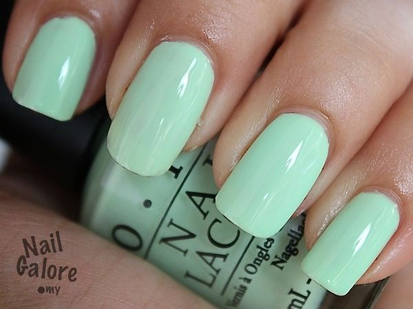 Lovely mint green!  Perfect for Spring!  OPI's Gargantuan Green Grapes. Nail polish.