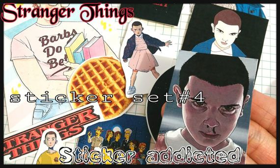 17xSTRANGER THINGS: StickersSticker Pack Laptop Stickers