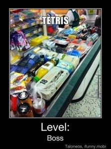 tetris, funny shopping