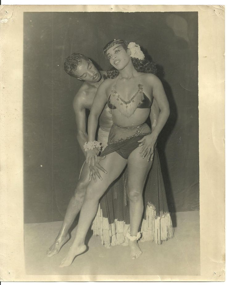 "Black Exotic Dance Team Original 1940's 8"" X10"" Promotional Photograph 