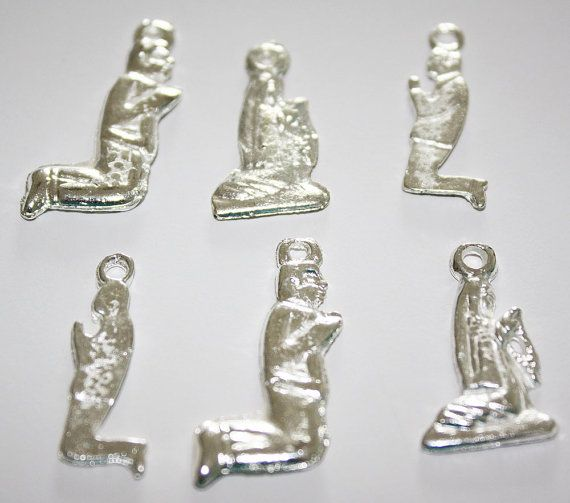 Mexican Milagros Charms Silvertone Jewelry Altars by MyMercado