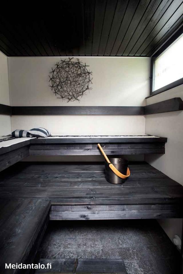 Muutoskohde: Mustavalkoinen vanerisauna | Meidän Talo
