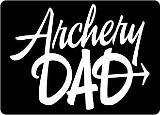 Archery Dad White Sticker. This Archery Squad favorite slogan is now available in a decal/sticker perfect for your vehicle or anywhere you'd like to show off your archery dad pride! This decal is appr